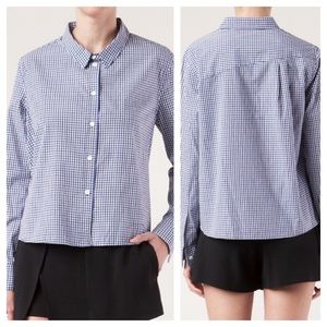 Boy. Band of Outsiders Cropped Boxy Shirt Gingham